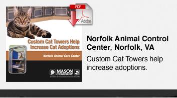 Custom Cat Towers Help Increase Adoptions - Norfolk Animal Control Center, Norfolk, VA