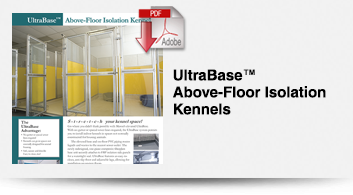 ultrabase-above-floor-isolation-kennels